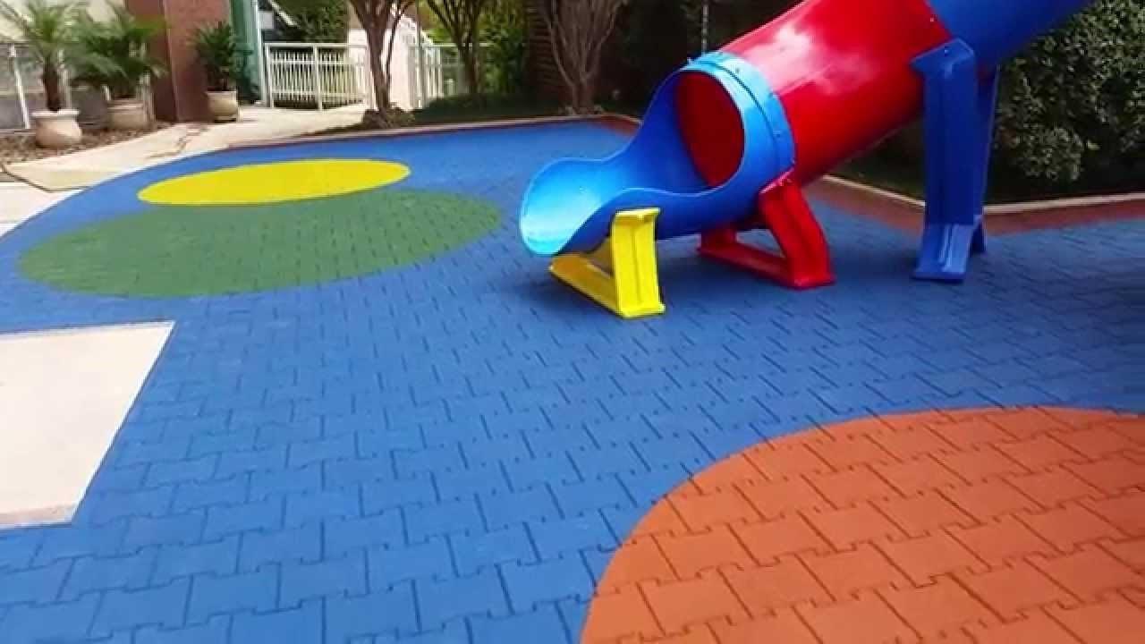 piso de proteção para playground