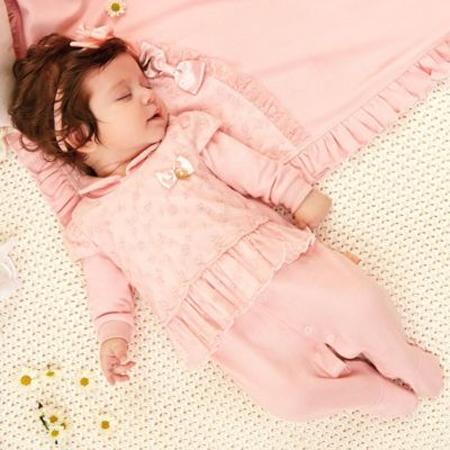 saídas de maternidade menina rosa