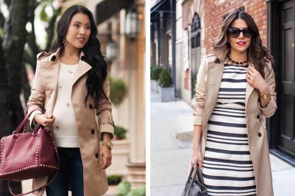 casacos longos - como montar um look outono inverno para gestante