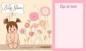 convite cha de bebe menina 7