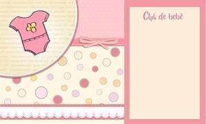 convite cha de bebe menina modelo 10