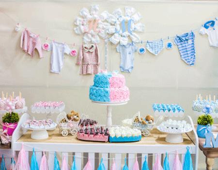 decoração chá de bebê simples foto 4
