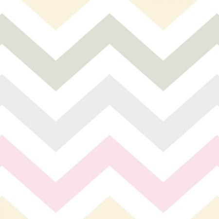 papel de parede quarto bebê menina formas geomêtricas