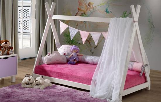 cama montessoriana - quarto bebê menina imagem 3